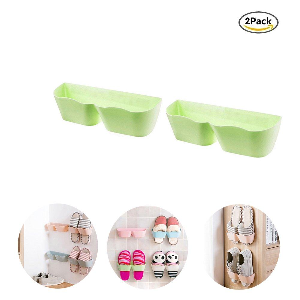 Soporte de pared para zapatos, de Glodenbridge, diseño creativo de plástico, Organizador de almacenamiento de zapatos pegajoso