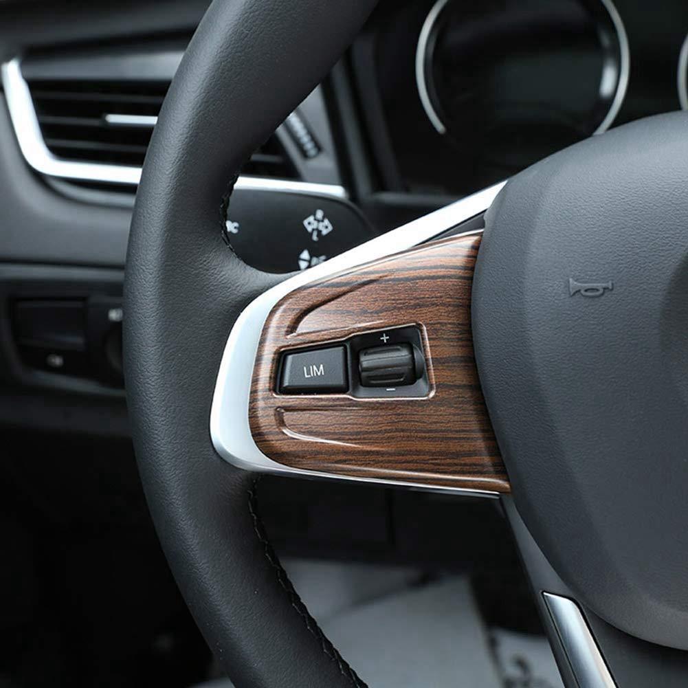 ABS cubierta del botón del volante de plástico ajuste para X1 F48 2016-2019 X2 F47 2018 2 series 218i f45 F46 madera de pino: Amazon.es: Coche y moto