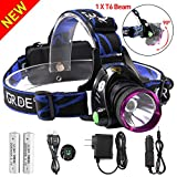 GRDE 3181 Outdoor Rechargeable LED Headlamp with 3 Modes Adjustable Thick ...