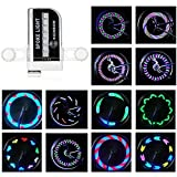 #10: Rottay Bike Wheel Lights Waterproof RGB Ultra Bright Bicycle Wheel Lights Spoke Lights With 14-LED and 30pcs Changes Patterns -Safety Cool Bike Tire Accessories for Kids Adults