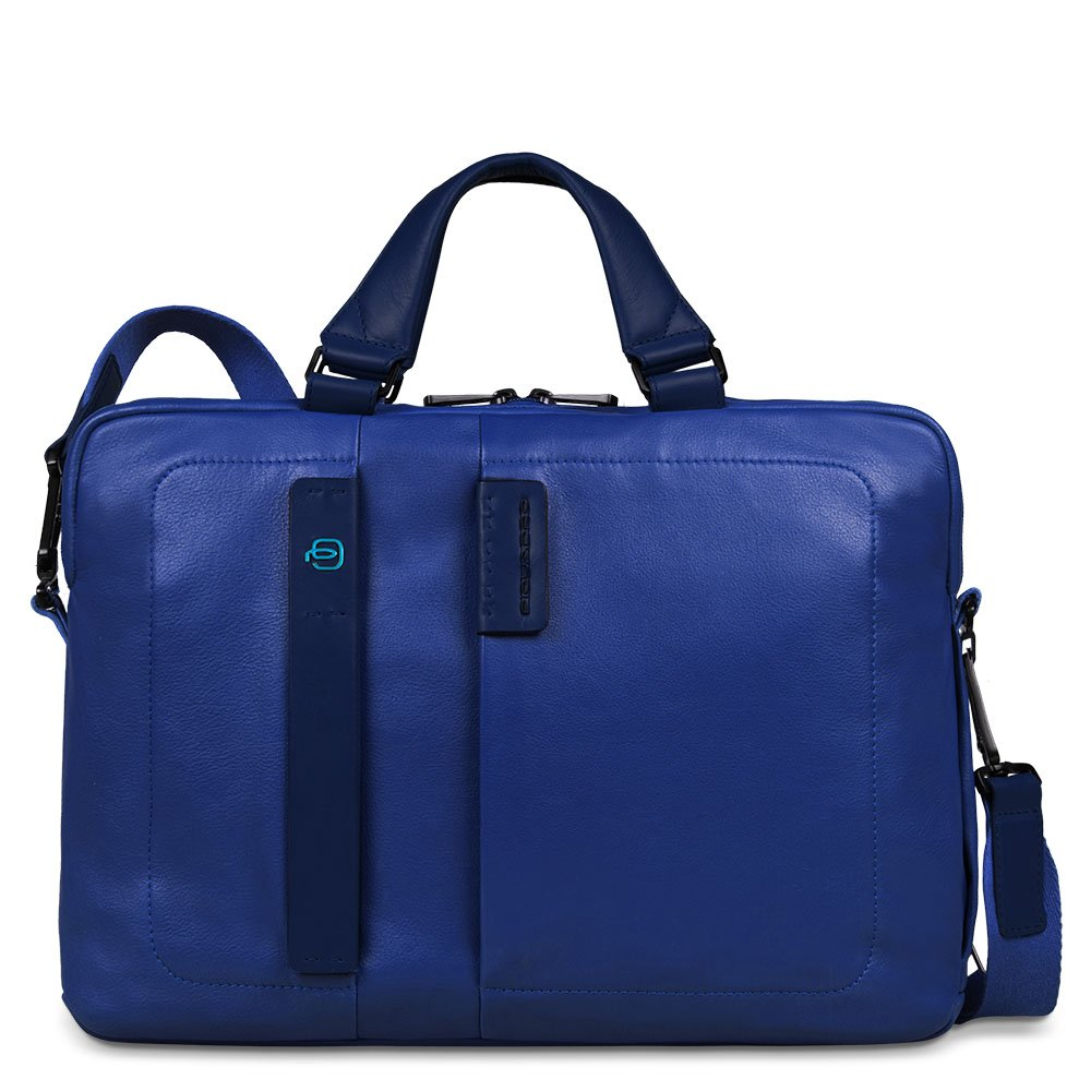 Piquadro Two-Handled Computer Bag with iPad and iPad Mini Compartment, Blue, One Size