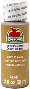Apple Barrel Acrylic Paint in Assorted Colors (2 oz), 20761, Pure Gold