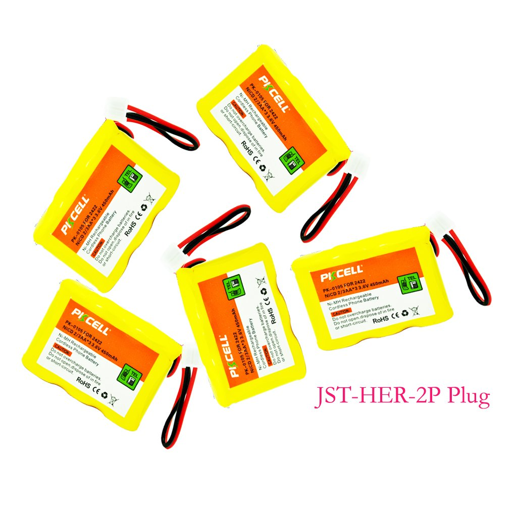 Rechargeable Cordless Phone Batteries for at&t 2422 VTech8050740000 Panasonic P-P303 TYPE4 serials Count: (4Packs) PKCELL