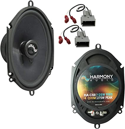 Amazon Com Compatible With Ford F 350 1997 1998 Front Door Replacement Speaker Harmony Ha C68 Premium Speakers Car Electronics