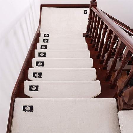 QFFL Alfombra para Escalera Escalones de Alfombras Mats, Semicircular Cubierta Antideslizante Escalón Mat Suave Pegamento Libre Autoadhesivas, 7 Tamaño del Color 4 Opcional Escalera Paso Estera: Amazon.es: Hogar