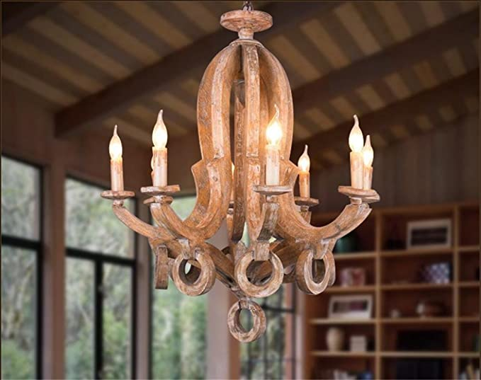 Illuminazione interna lampadario lampade antichi oggetti in legno