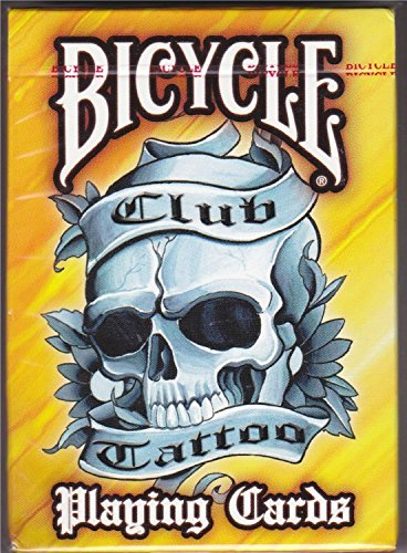 Bicycle Yellow Club Tattoo Playing -