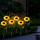 Sunflower Garden Solar Lights -2 Pack Solar Lights Outdoor Waterproof Decorative LED Solar Lights for Patio Lawn Garden Yard