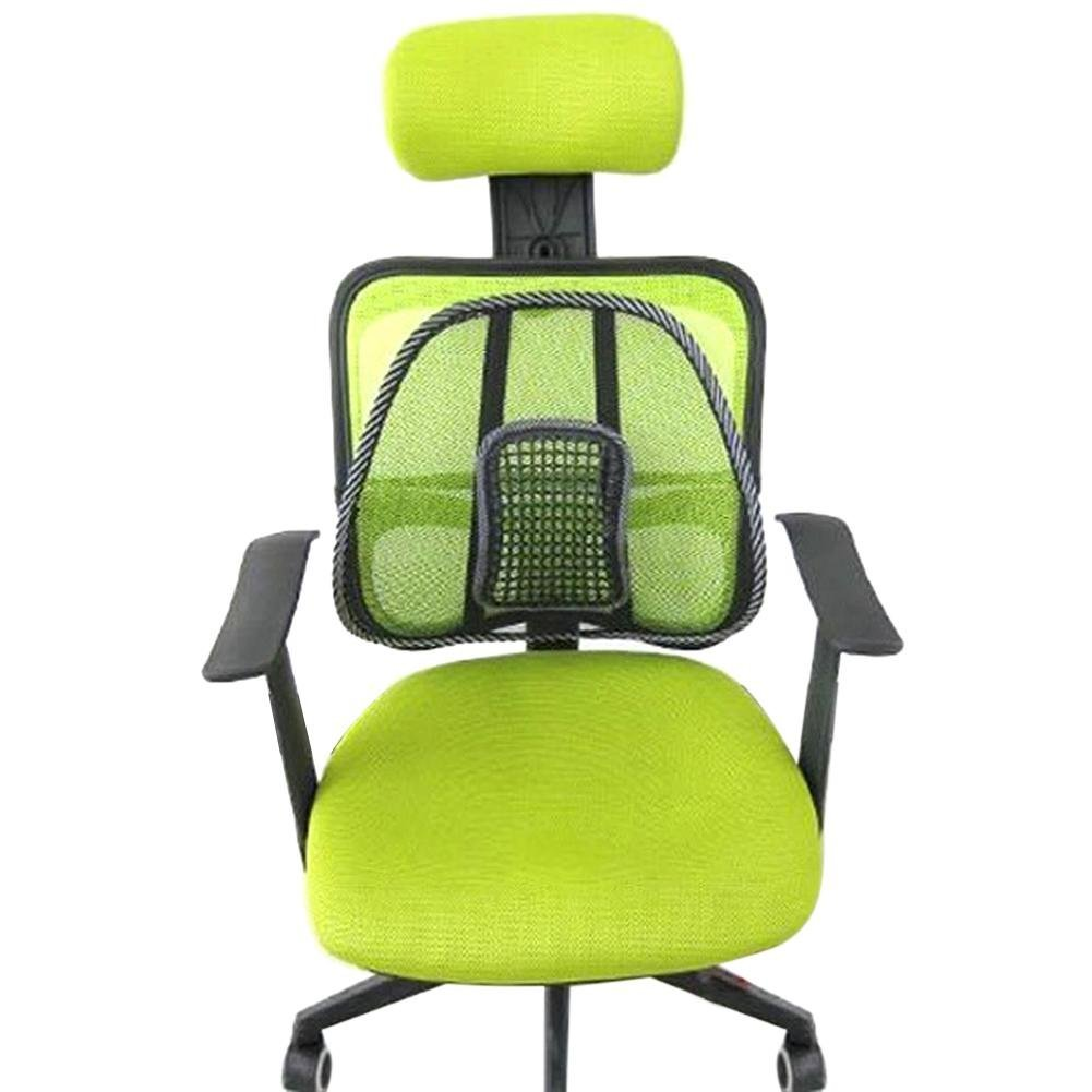 Yevison Premium Quality Seat Back Cushion Mesh Lumbar Back Brace Support Office Home Car Seat Chair Cushion