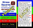 Stress Square Instruction Card---Stress Square not included