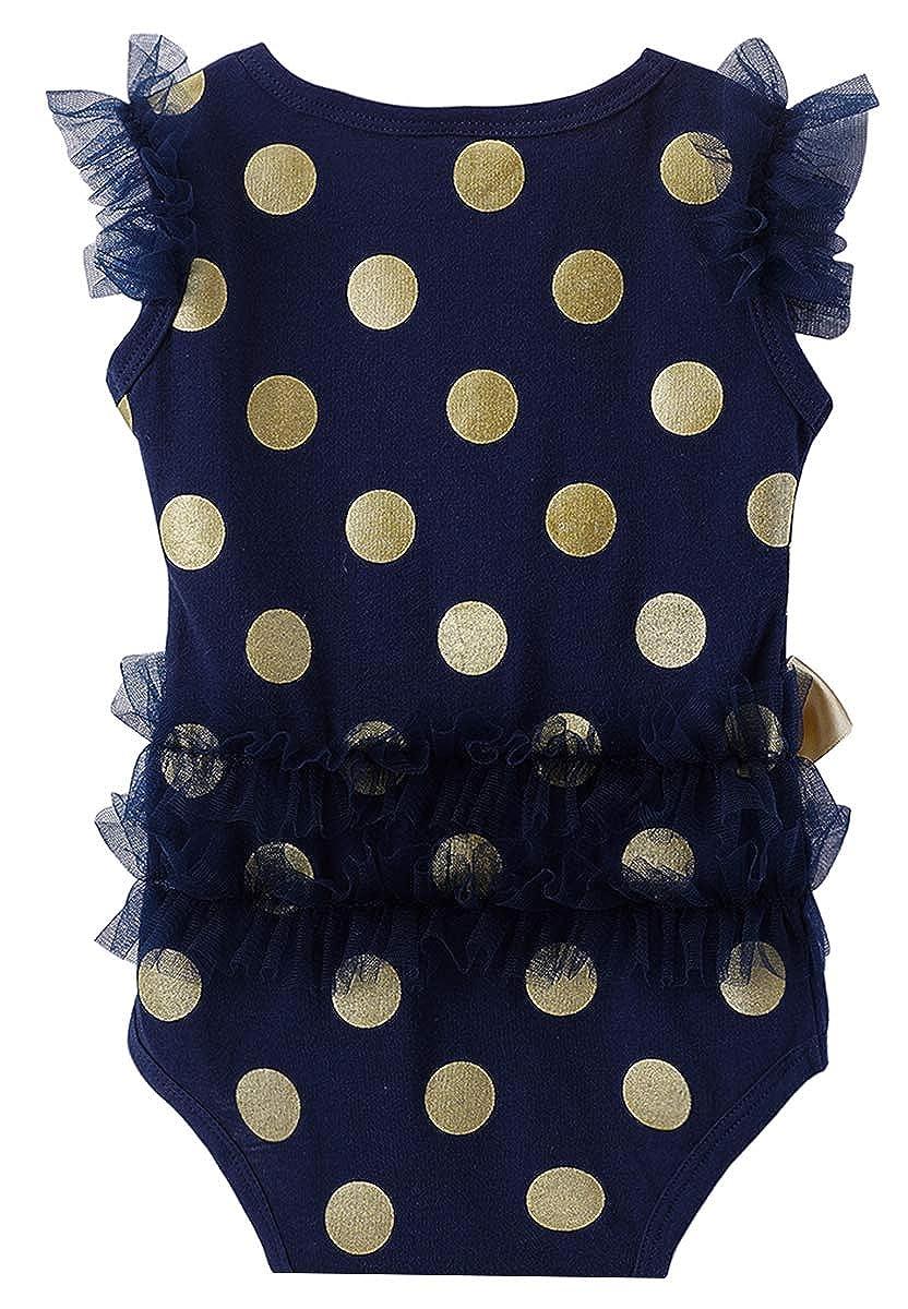 COSLAND Baby Girls Lace Tutu Dress Bodysuit with Headband