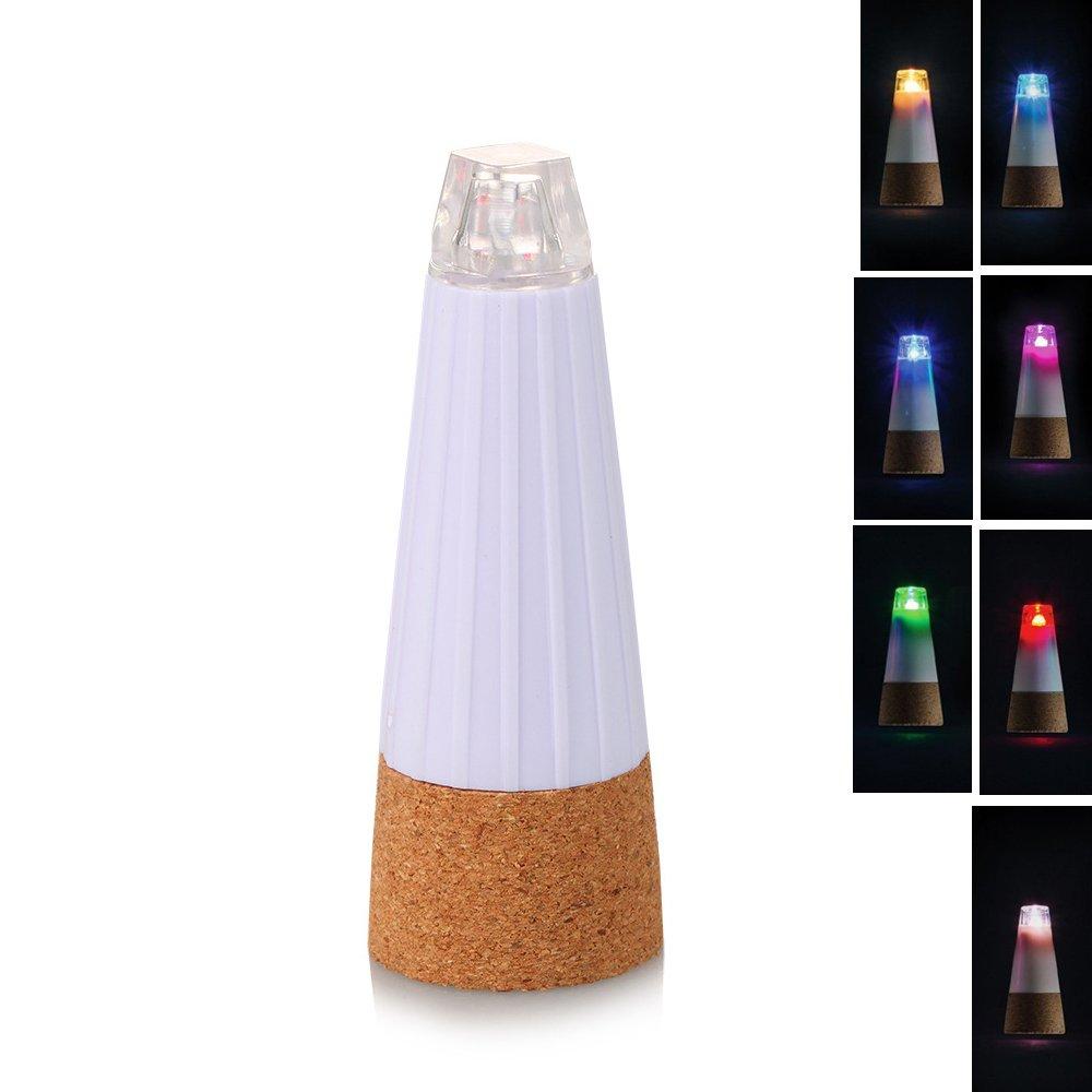 Rechargeable LED Wine Bottle Light USB Cork Light Bottle Cork Light (White and RGB) (4, RGB)