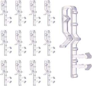 Valance Clips for Blinds, 20 Pieces Blind Clips 2.1 Inch Hidden Clear Plastic Window Blind Parts/Accessories for Wood Blinds