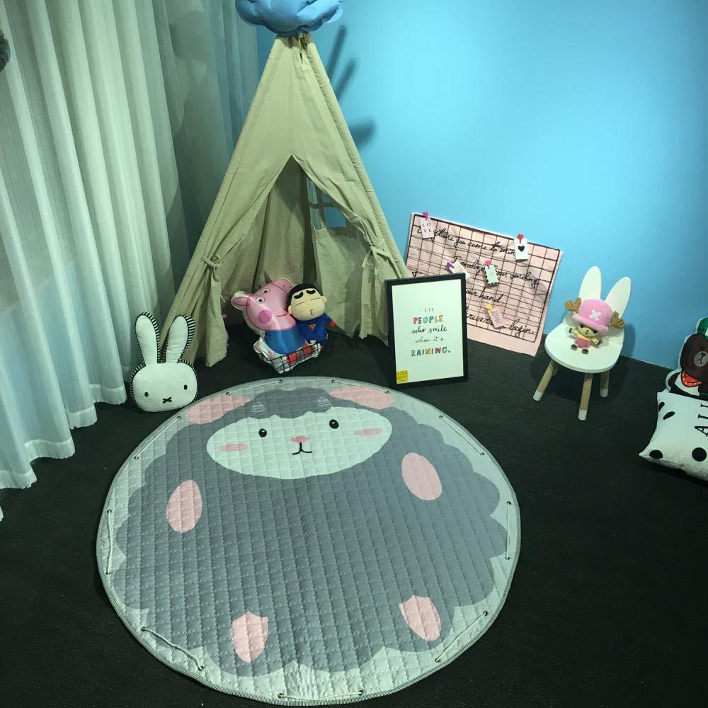 Tapis de jeu pour enfants en boule de coton petit tapis de rangement frais enfants rampant tapis salon cadeaux de No/ël