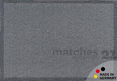 Fußmatte Fußabstreifer schmutzabsorbierend Schmutzfangmatte Uni einfarbig grau 60x100 cm hochflorig