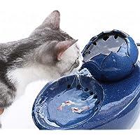 IMDOU Dricksfontäner för katter hundar bladform husdjur vatten fontän keramik automatisk cykeldispenser supertyst pump…