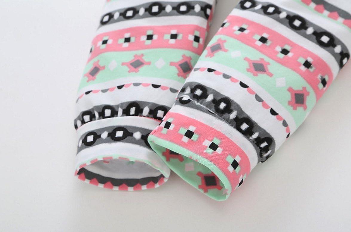 QIANMEI 3pcs Infant Baby Girls Elephant Print Romper Bodysuit+Floral Pants Legging Outfits Set
