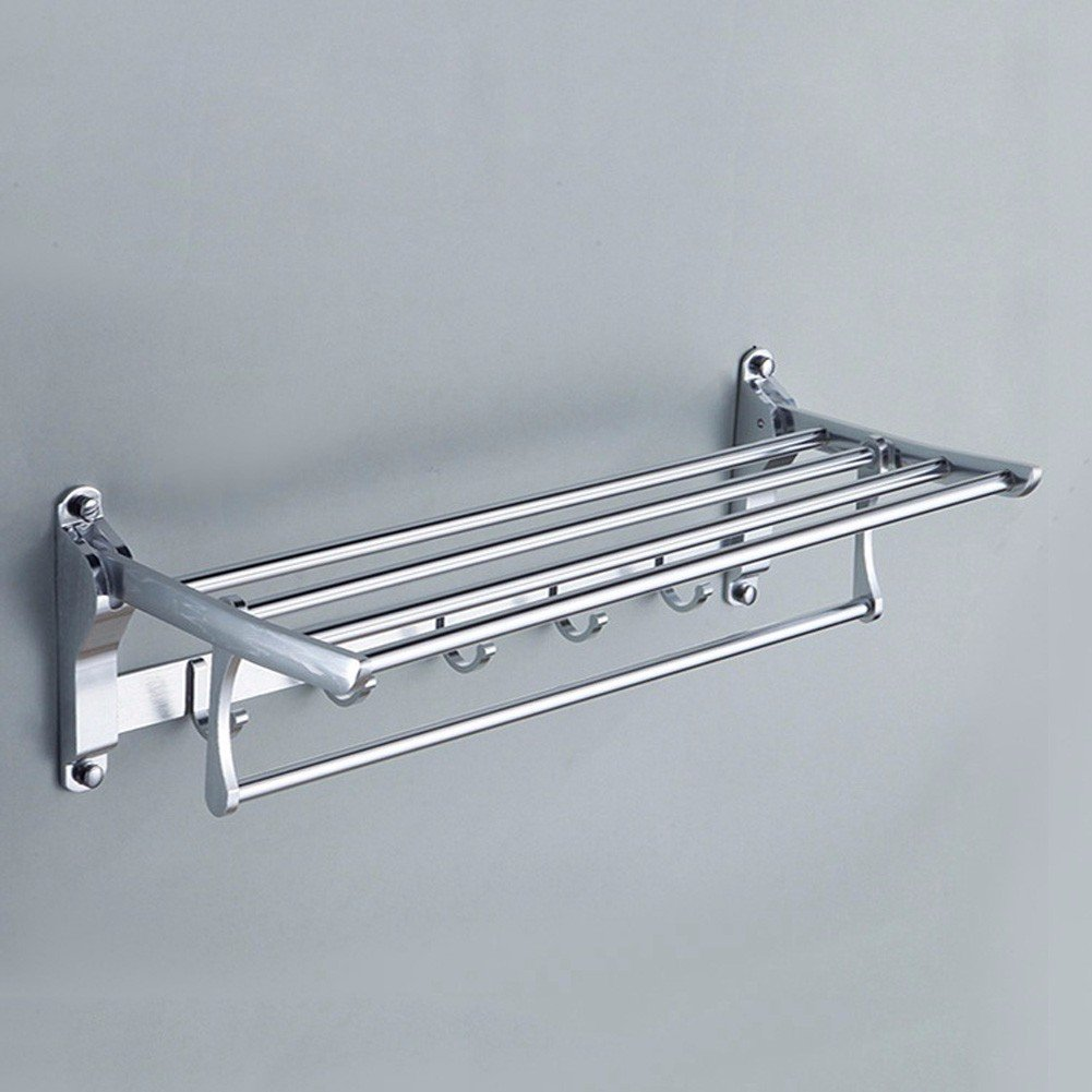 lovely KHSKX Aluminum hanging space bathroom towel towel multipurpose activity Towel rack folding racks