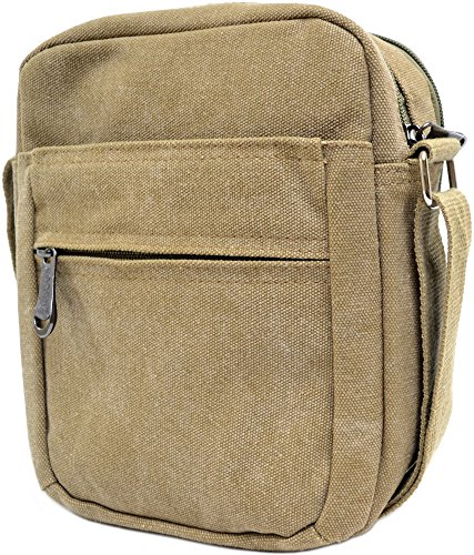 Canvas Ladies Cross Luxury Summer 100 Mens Bag Shoulder Body Travel Khaki Work Holiday z0txzqdw