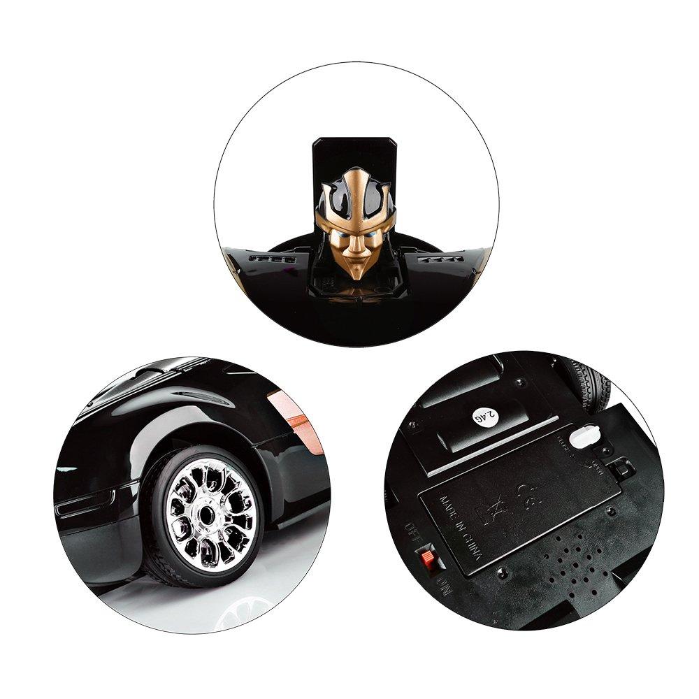 SainSmart Jr. Transformation Car Toy Bugatti Car Robot for Kids, RC Car One Button Transforms into Robot, Remote Control Transforming Robot (Orange) by SainSmart Jr. (Image #5)