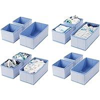 mDesign Juego de 12 cajas organizadoras – Cestas