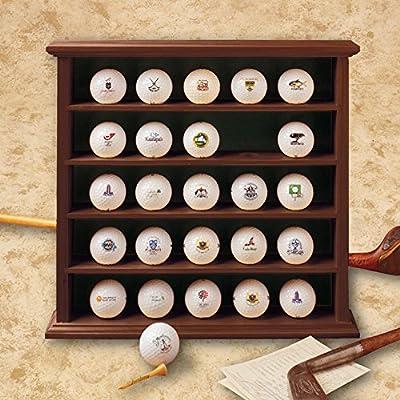 Golf, Gifts and Gallery Mahogany Golf Ball Display Cabinet - 25 Balls