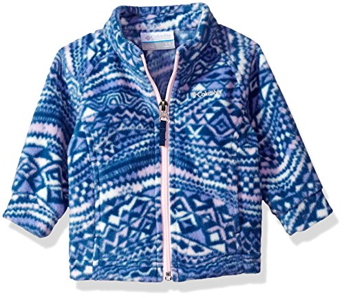Columbia Sportswear Baby Benton Springs Ii Printed Fleece Outerwear, carbon wave print, 3/6
