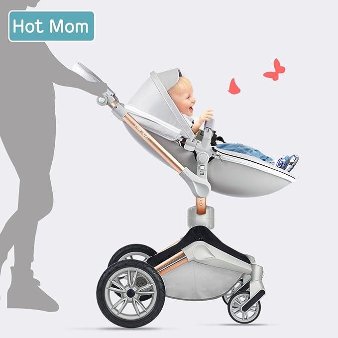 Hot Mom cochecito 3 en 1 Función con buggy y bañera 2018 nuevo diseño - Grey: Amazon.es: Bebé