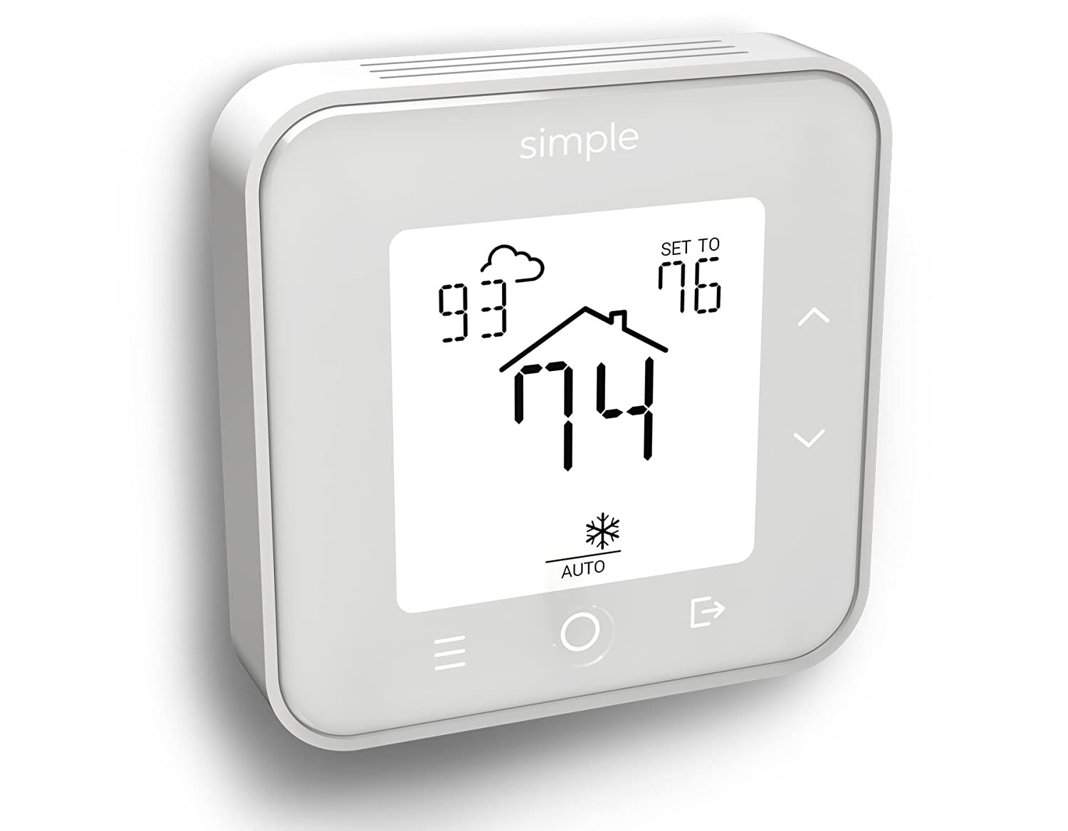 The Simple Thermostat, Energy Star Wi-Fi Smart Thermostat With Mobile App, 7 Day Schedule, Compatible with Alexa (Black With C-Wire) - - Amazon.com