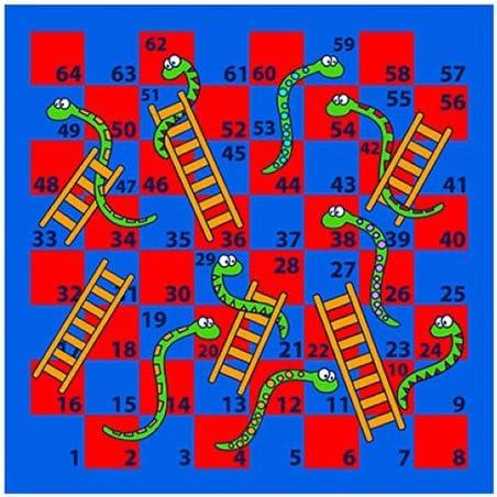 House Of Kids 12112-e3 Juego Serpiente/Escalera poliéster, 100 x 0,5 x 100 cm, Multicolor: Amazon.es: Hogar