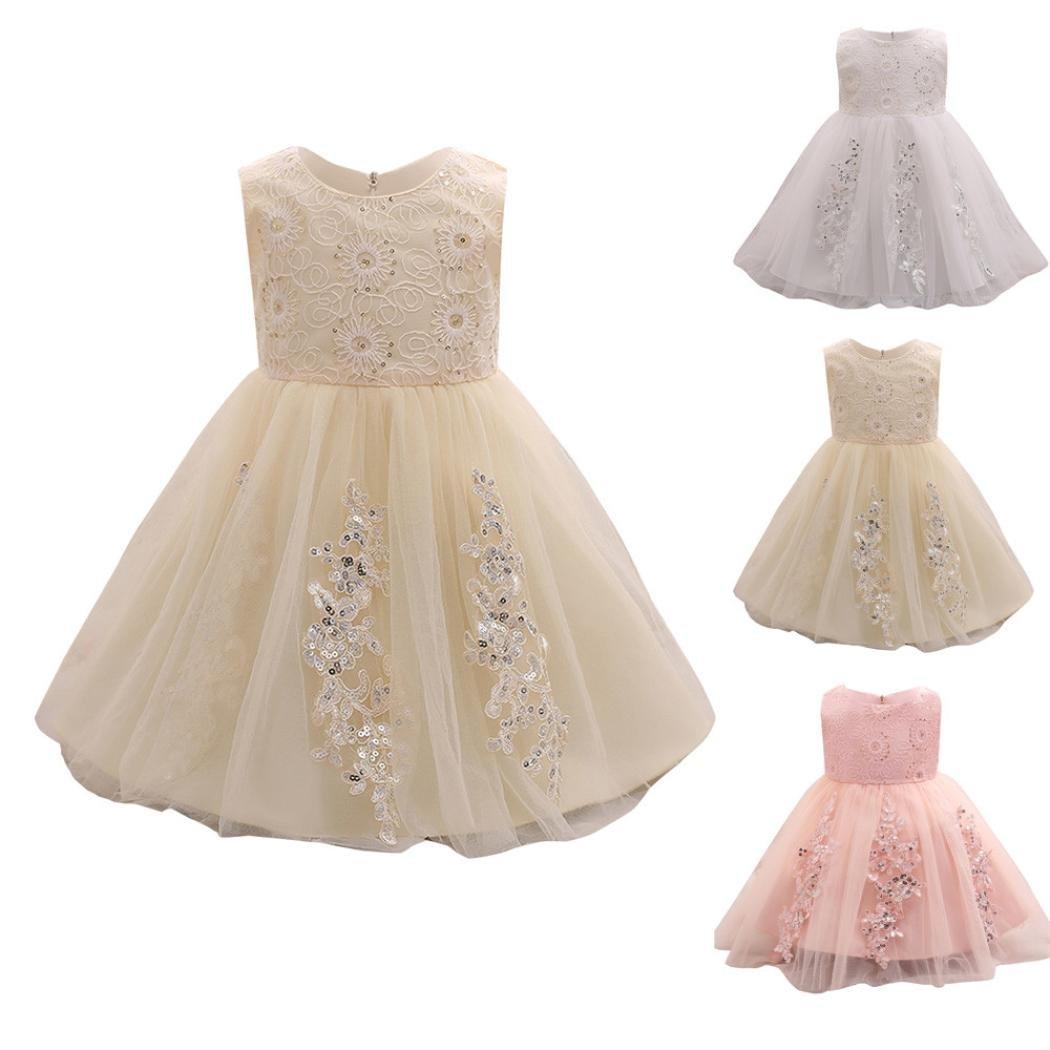 d5a8cbb8da2e5 Oyedens Bambine Principessa Abiti Eleganti Bambina Partito Compleanno  Comunione Swing Vestiti Da Cerimonia Ragazza Vestito Formale ingrandisci