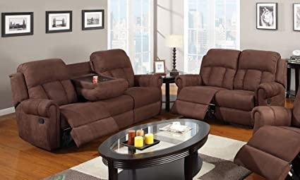 hardword modern reclining loveseat in mission cherry recliner ohio products ebony optional double leather inlay with shown