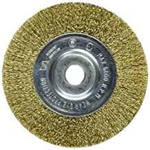 Vermont American 16798 4-Inch Fine Brass Wire Wheel Brush with 1/4-Inch Hex Shank for Drill by Vermont American