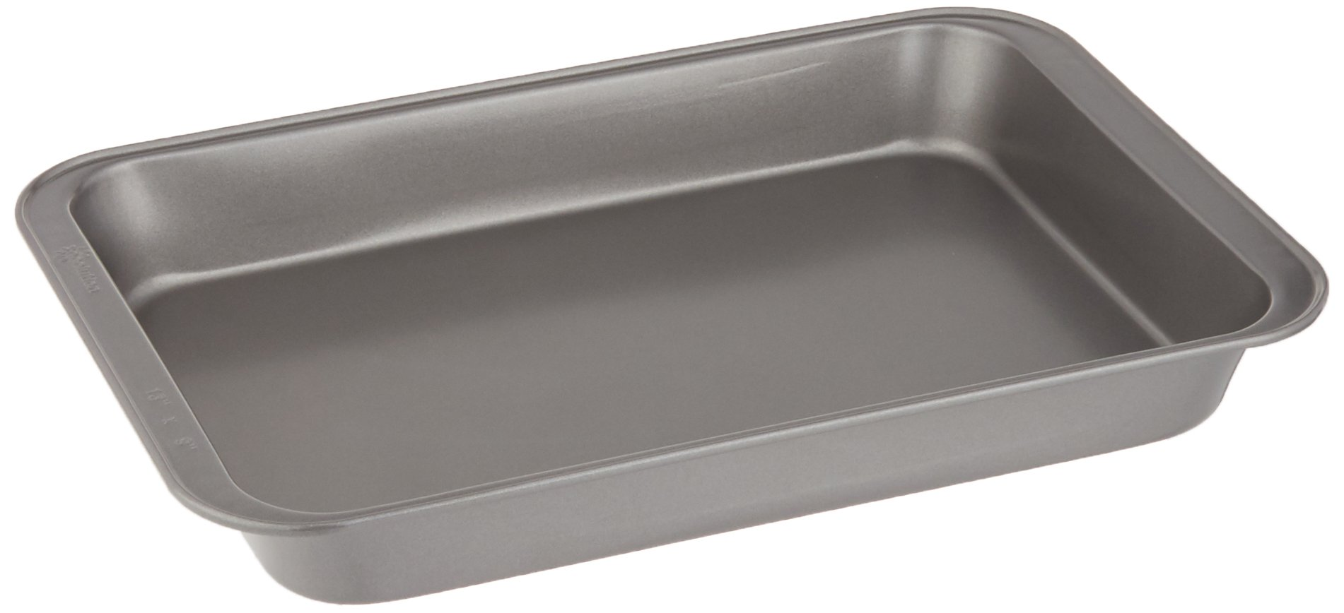 """Ecolution Bakeins Cake Pan – PFOA, BPA, and PTFE Free Non-Stick Coating – Heavy Duty Carbon Steel – Dishwasher Safe – Gray – 13"""" x 9"""" x 1.875"""""""