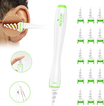 BARTUN Ohrenschmalzentferner Ohrenreiniger ohrreiniger mensch mit Lichtern und 4 entfernbaren Silikon Aufsatzen Sicherer und Weicher ohrenschmalz entferner f/ür Kinder und Erwachsene