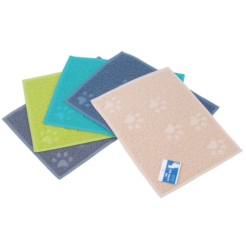 Sroute Cat Litter Mat Waterproof /& Easy-to-Clean Soft /& Easy on the Paws Safe /& Non-Toxic Grey