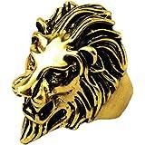 Sorella'Z Golden Stainless Steel Ring For Men