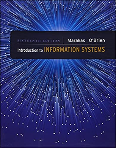 Amazon com: Introduction to Information Systems (9780073376882