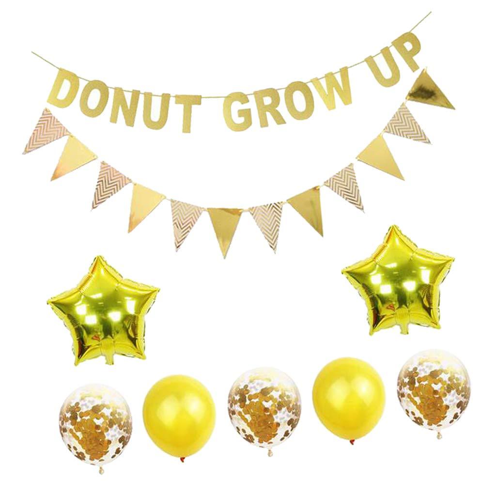 Amazon.com: Fenteer Donut Party Decorations Kit - Donut Grow ...