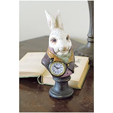Alices In Wonderlands White Rabbit Resin Desk Clock