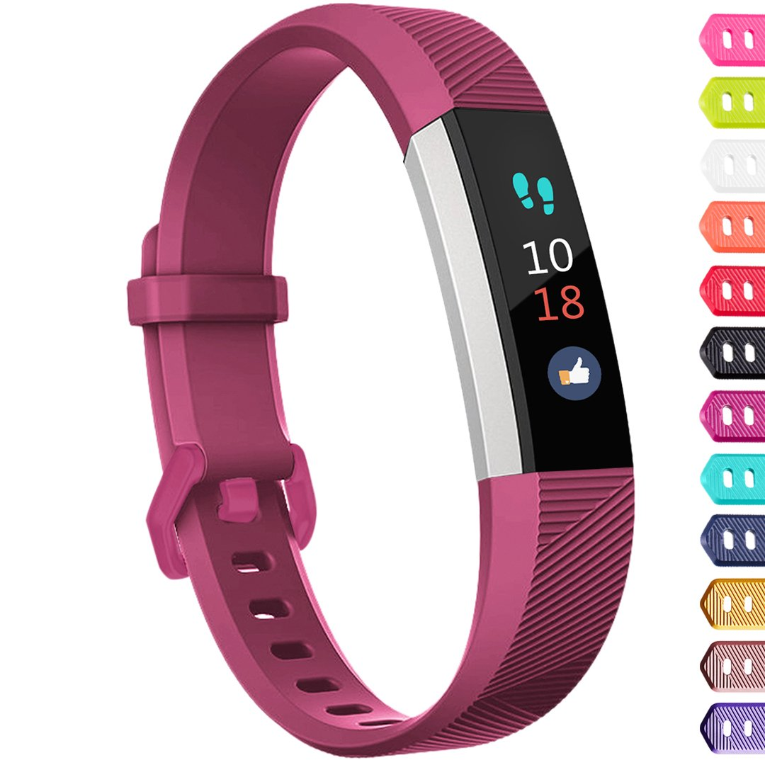 Ouwegaga Compatible for Fitbit Alta Bands and Fitbit Ace Bands for Kids Small Fuchsia