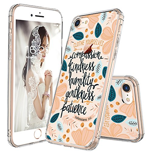 iPhone 8 Case, iPhone 7 Case Slim, MOSNOVO Floral with Flower Quote Clear Design Back Phone Case and TPU Bumper Protective Cover for for iPhone 7 (2016) / iPhone 8 (2017) - Cloth Yourselves