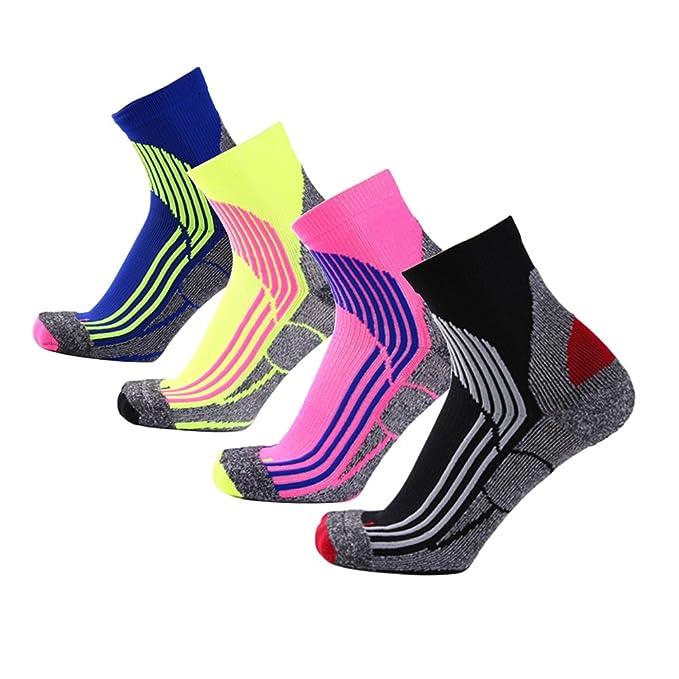 Jelinda Mens Baloncesto Calcetines de fútbol Calcetines deportivos Calcetines deportivos al aire libre para correr (