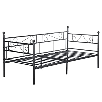 Eggree 3ft Single Day Bed Scrub Metal Guest Bed Frame Sofa Bed With