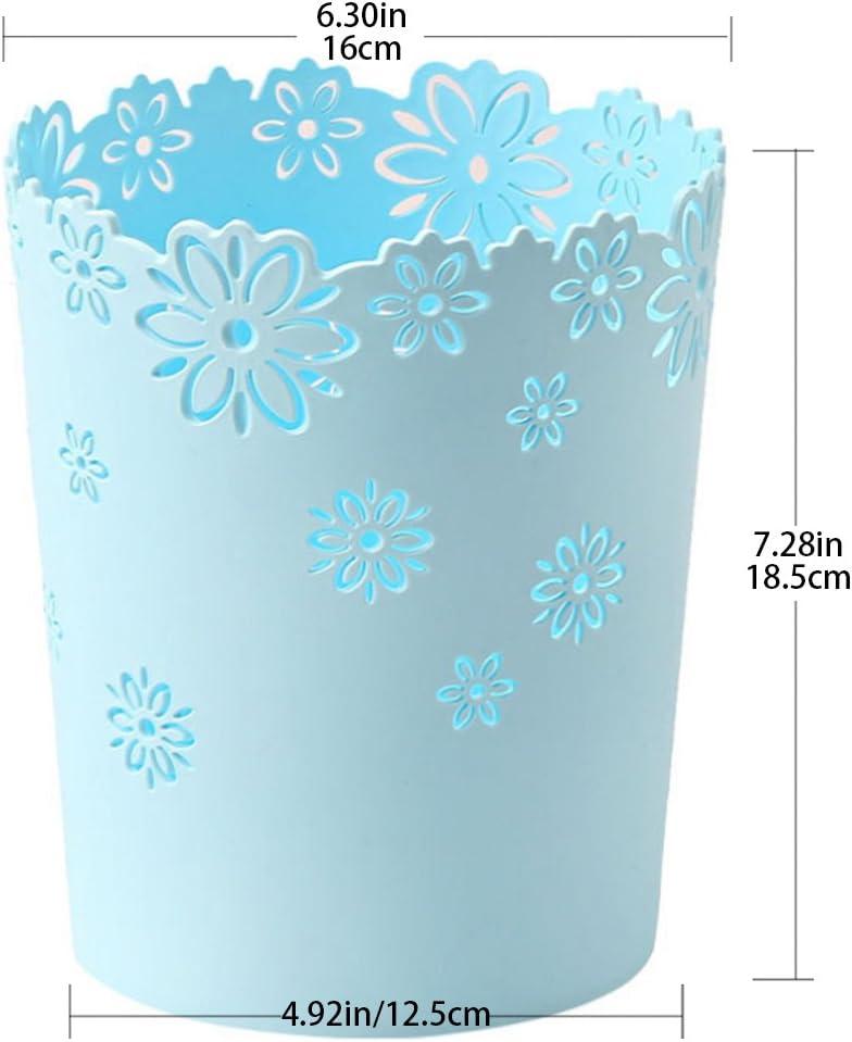 Bleu Teckpeak Petit Poubelle de recyclage Creux en Plastique Corbeille /à Papier Ronde