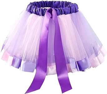 Gwxevce Niños Niñas Niñas Ballet Dance Ruffle Falda Plisada Tutu ...