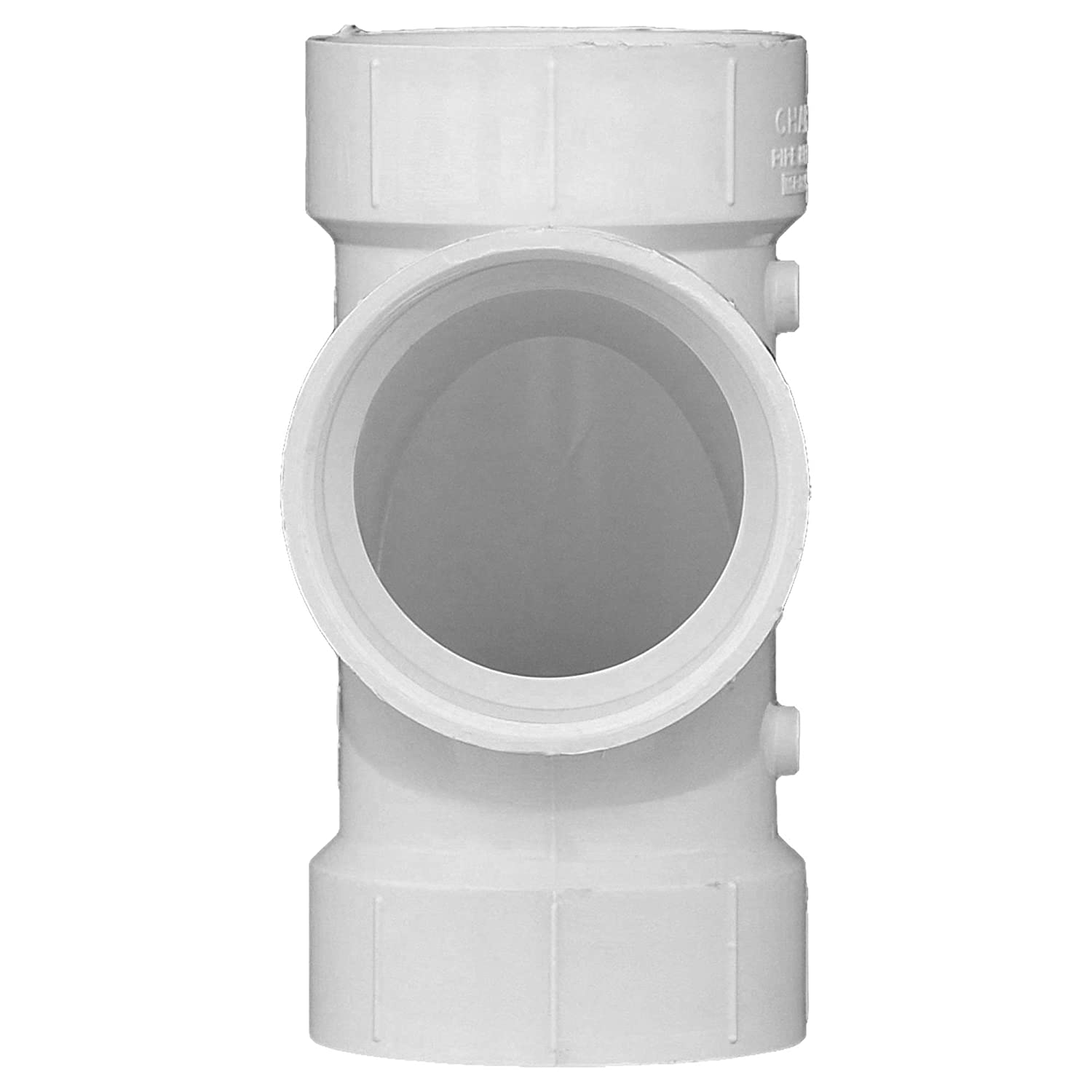 Single Unit Schedule 40 Drain, Waste and Vent Charlotte Pipe 4 DWV Sanitary Tee PVC DWV
