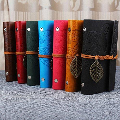 BB Vintage Notebook Diary String Leaf Travel Leather Paper Journal Book Sketchbook