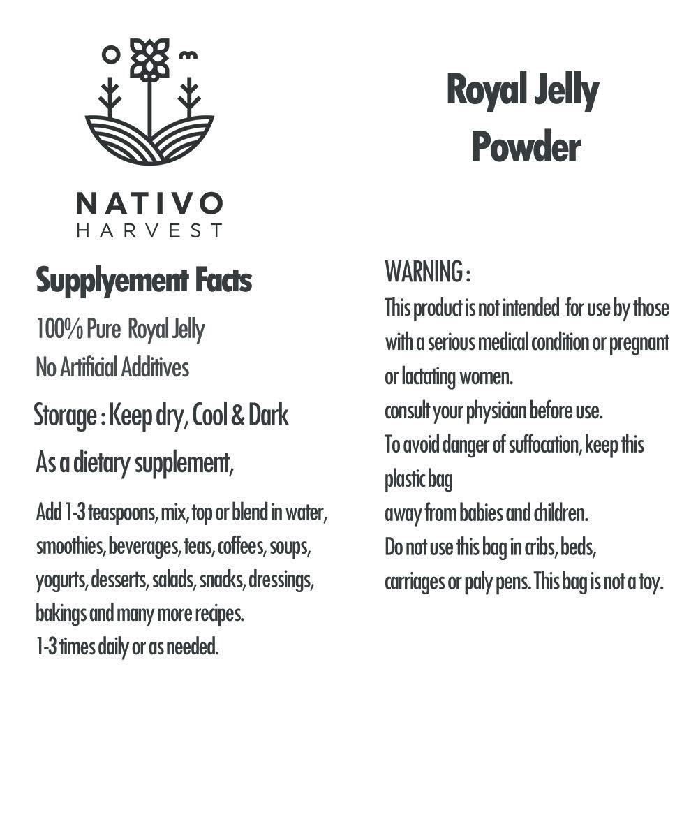 Amazon.com: Royal Jelly Honey Bee Powder Organic 100% Pure ...