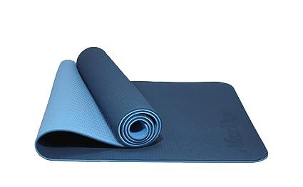 MaxDirect Colchoneta para Yoga Pilates Gimnasia de Material Ecológico TPE. Esterilla Antideslizante Muy Ligera con Grosor de 6mm, tamaño 183cm x ...